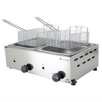 Fritador Gás Óleo Inox 10 2 Cubas Venâncio Fritadeira Sfg212 - Venancio