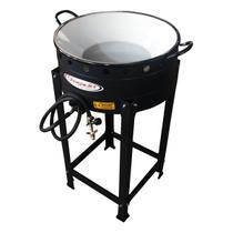 Fritador Pasteleiro Tacho 45 Cm N18 A Gás 10 Litros Óleo Com Cavalete Alta Pressão - Itajobi Fogões -