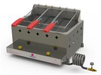 Fritador Retangular Fritadeira 3 Cestos PR-30G G2 Gás - PROGÁS -