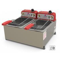 Fritador Tacho fritura Retangular 10 Litros 2 cubas Óleo PR-20E Progás 127V - Progas