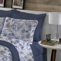 Fronha avulsa 1 peça de Malha 100% algodão Estampada Azul Ocean Edromania -