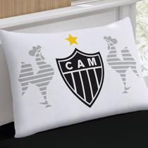 Fronha Avulsa Buettner Estampada Malha Clube Atlético Mineiro Branca -