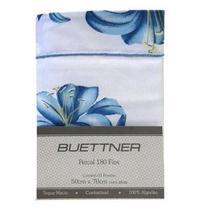 Fronha Avulsa Buettner Percal 180 Fios com Abas Estampada Floral Azul -