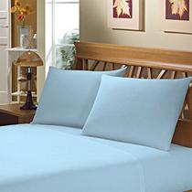 Fronha Avulsa Lisa Azul para Travesseiro 150 Fios 50x70cm - Camesa -