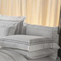 Fronha Avulsa Plumasul Premium Harmonious 50x150cm Branca/Cinza -