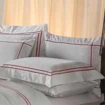 Fronha Avulsa Plumasul Premium Harmonious 50x150cm Branca/Vermelho -