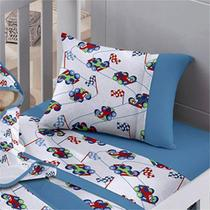 Fronha Avulso Buettner Baby Malha Estampada Corrida Azul -