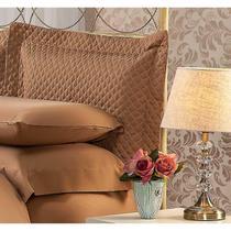 Fronha Para Travesseiro 50x90Cm Matelasse Soft Touch Café Plumasul -