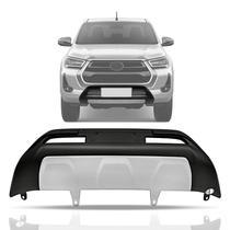 Front Bumper modelo original Preto Prata Toyota Hilux 2021 - Pick-Up Liner