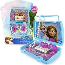 Frozen 12 Unhas 1 Estojo 2 Acessórios de Cabelos 1 Colar - Toyng