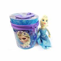 Frozen Boneca Pelúcia Elsa Com Lata Decorativa - Taimes