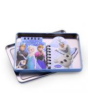 Frozen jogo com 2 cadernos na lata - quantidade: 60 paginas - Taimes