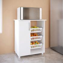 Fruteira 1 Porta 3 Cestos 0261 Genialflex Branco -