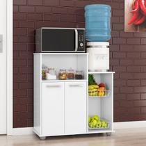 Fruteira Armário Balcão 2 Portas Cozinha Multiuso Sollys Branco - Poliman Móveis