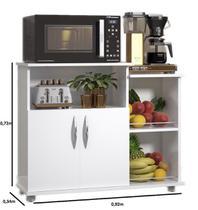 Fruteira Balcão 2 Portas Chão Cozinha Tampo Branco - Clickforte