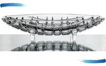 Fruteira Centro de Mesa De Cristal Decorativa De Mesa Vidro - Lyor