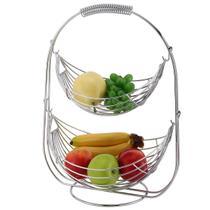 Fruteira Cesto De Frutas Centro De Mesa Aramado Aço Cromado - Wincy