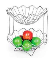 Fruteira de mesa copacabana dupla - niquelart -