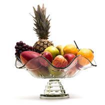 Fruteira de mesa de vidro com pe romana 40cm luxo - MISTRAL/CAROLINA LIZ