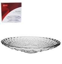 Fruteira de mesa de vidro redonda transparente bolha 26,7cm de ø na caixa - 20 Comercial