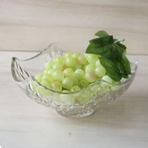 Fruteira de vidro bowl com detalhes no vidro em alto relevo 10x15 cm - Eu Quero Presentear
