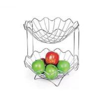 Fruteira Dupla Mesa Bancada 2 Andares  Frutas Verduras N026 - Niquelart