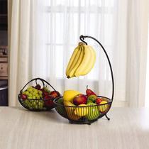 Fruteira Dupla Mesa Moderna Elegante Porta Banana 2 Cestas - Mmark