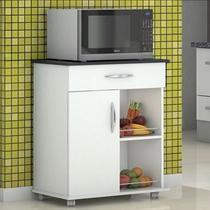 Fruteira Multiuso Cozinha Balcão p/ Microondas Bebedouro Preto - Clickforte