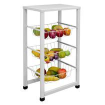 Fruteira para Cozinha Aço Chão Retangular Max Forte Porta Frutas - Açomix -