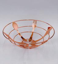 Fruteira Talheres Rose Gold 27cm - Wellmix -