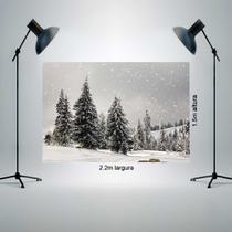Fundo Fotográfico Tecido Newborn 1,50x2,20m Pinheiro e neve P0076 - Allstate