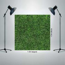Fundo Fotográfico Tecido Newborn 1,5x1,5m Folhagens verde P1061 - Allstate