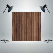Fundo Fotografico Tecido Newborn 1,5x1,5m Madeira marron escuro P846 - Allstate