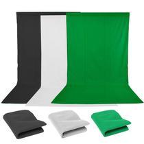 Fundo Infinito Fotográfico 3 Cores - Branco, Preto e Verde TNT - 1,60m x 3m - Tudoprafoto