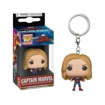 Funko Pocket Pop Keychain: Captain Marvel (Unmasked) - Captain Marvel - Aliança Geek