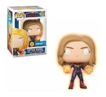 Funko Pop Captain Capita Marvel Exclusivo Walmart 432 Gitd -