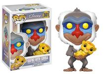 Funko pop disney the lion king rafiki w/ baby simba 301 -