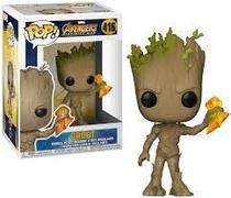 Funko Pop Groot with Stormbreaker 416 - Avengers Infinity War - Vingadores Guerra Infinita - Marvel -