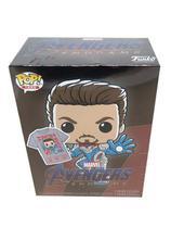 Funko pop marvel avengers endgame box iron man glow+camiseta -