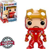Funko Pop Marvel Capitão América Guerra Civil Iron Man 136 Sem Máscara -