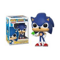 Funko Pop Sonic com Esmeralda 284 Sonic The Hedgehog -