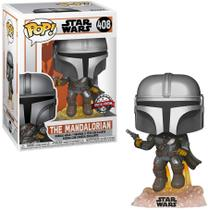 Funko Pop - Star Wars Mandalorian - The  Mandalorian Glow 408 - Exclusivo -