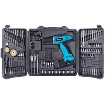 Furadeira E Parafusadeira 550 RPM Kit Com 87 Peças Com Bateria 12V FP-550 Vinik. -