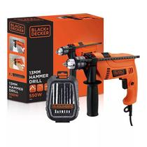 Furadeira Impacto Parafusadeira 1/2 Black Decker +kit Broca - Black  decker