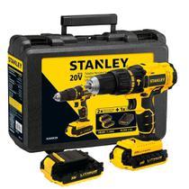 """Furadeira Parafusadeira de impacto 1/2"""" à bateria 20 volts com 2 baterias - SCH20C2K (110V) - Stanley"""