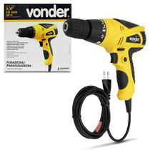 Furadeira Parafusadeira Elétrica Vonder FPV 300 Mandril 3/8 Polegadas 10mm 280W 220V Preto e Amarelo -