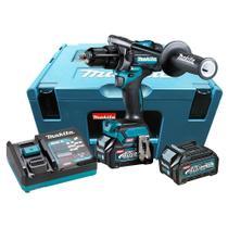 Furadeira parafusadeira impacto hp001gd201 40v 2,5ah xgt 127v com maleta mak-pac makita -