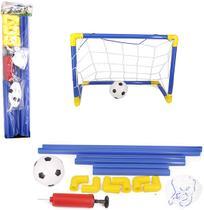 Futebol Gol Golzinho Mini Trave 44x32x24,5cm Com Rede + Bola - Wellmix