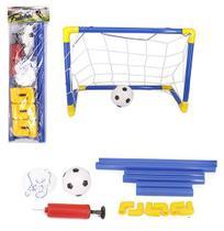 Futebol Gol Golzinho Mini Trave 59,5x41x29cm Com Rede + Bola - Wellmix