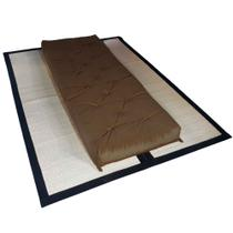 Futon Solteiro Dobrável Oriental Confort Plus Marrom - R9 design futon